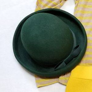 Vintage Accessories - 1980s Vintage Green Bowler Hat Street Smart Betmar